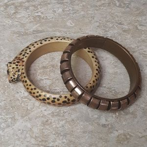 Bundle Of Two VTGBracelets Cheetah & Copper Tone